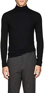 ATM Anthony Thomas Melillo Men's Rib-Knit Fitted Turtleneck Top - Black