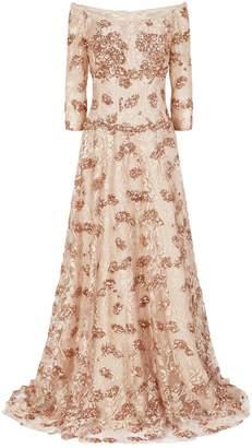 Jovani Sequin Floral Gown