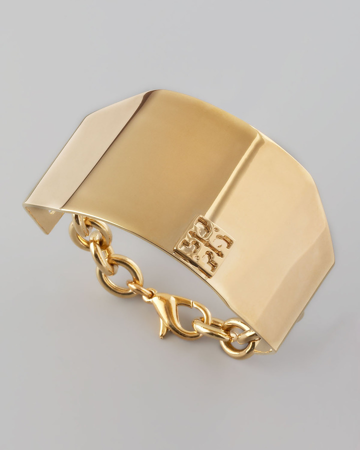 Tory Burch Angular Walden Cuff, Golden