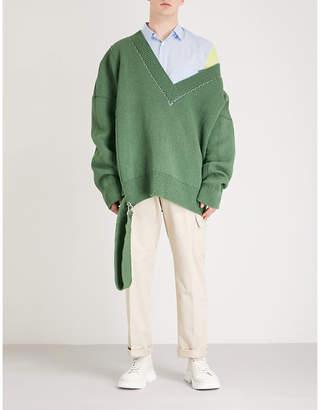 Raf Simons Buckle-detail oversized wool jumper