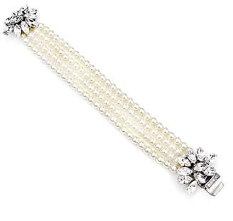 Ben-Amun Cascading Crystals Faux Pearl Bracelet