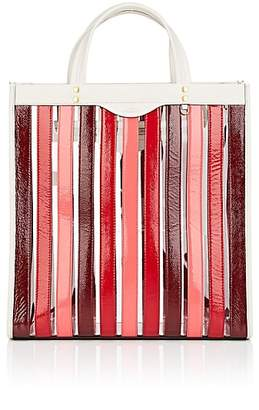Anya Hindmarch Women's Striped Patent Leather Tote Bag - Oxblood Multistripe