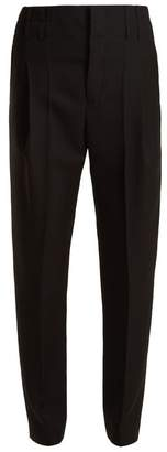 Haider Ackermann High Rise Wool Trousers - Womens - Black