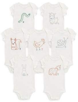 Stella McCartney Baby's Seven-Pack Sammie Cotton Bodysuit