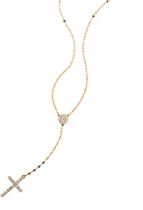 Lana Femme Fatale Crossary Necklace with Diamonds