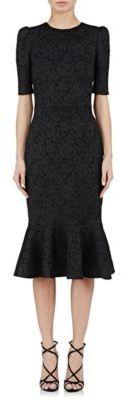 Dolce & Gabbana Women's Brocade Trumpet Dress-BLACK $2,575 thestylecure.com