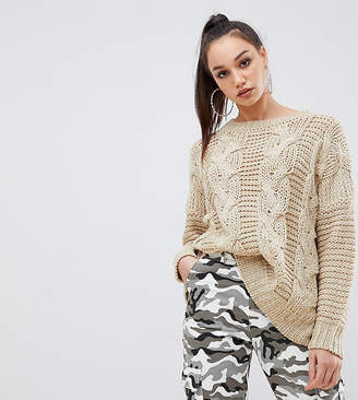 Missguided Tall Cable Knit Sweater