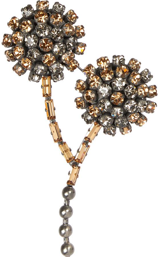 MarniMarni Embellished strass brooch