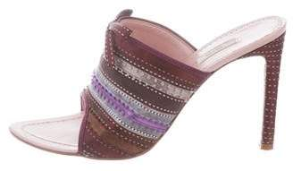 Prada Peep-Toe Bow Mules