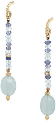 David Yurman Heritage  Tweejoux 18K Diamond & Gemstone Earrings