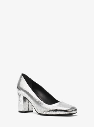 Michael Kors Gigi Crackled Metallic Leather Pump