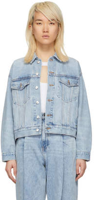 Alexander Wang Blue Denim Mesh Game Jacket