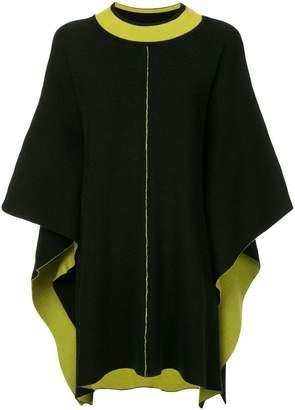 Caban midi knit cape
