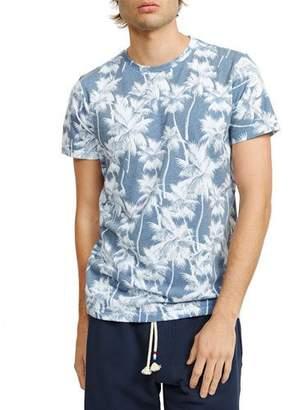 Sol Angeles Men's White Palm V-Neck T-Shirt