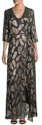 Forte Forte Fil Coupe Desert Leaf Wrap Dress