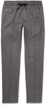 Dolce & Gabbana Tapered Stretch Wool And Cotton-blend Drawstring Trousers
