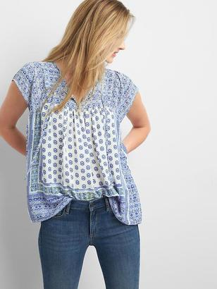 Drapey mix-print tie top $44.95 thestylecure.com