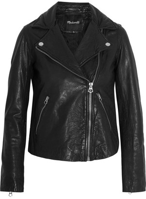 Madewell - Moto Leather Biker Jacket - Black $500 thestylecure.com