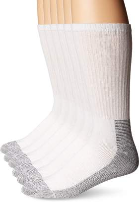 Fruit of the Loom Men's Big-Tall 6 Pair Big & Tall Full Cushion Work Gear Crew Sock Sockshosiery