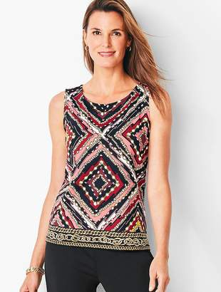 Talbots Knit Jersey Tunic Shell - Chains & Medallions