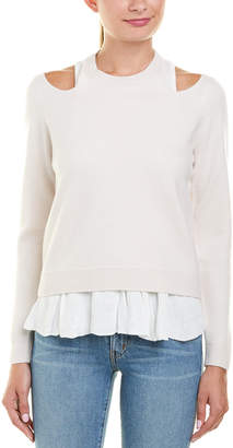 Derek Lam 10 Crosby Layered Wool-Blend Sweater