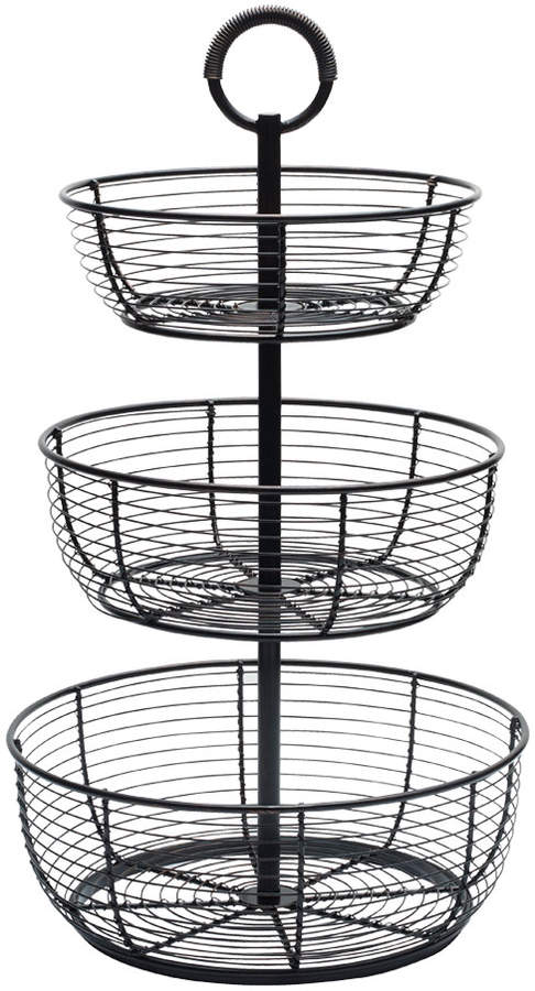 Gourmet Basics 3 Tier Round Wrap Basket