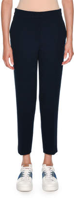 Agnona Double Wool Crepe Slim Pant