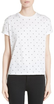 Women's T By Alexander Wang Dot Print Cotton Tee $125 thestylecure.com