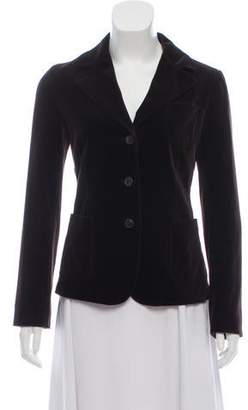 Miu Miu Velvet Notch-Lapel Blazer