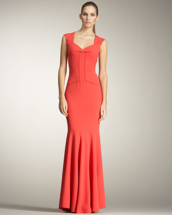 Roland Mouret Frances Fishtail Gown