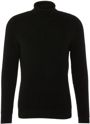 Cecil Dreyden 'Cecil' cashmere rib knit unisex turtleneck sweater