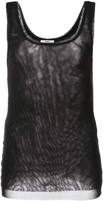 Fuzzi slim-fit tank top