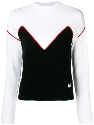 MSGM colour-block sweater