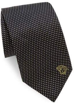 Versace Silk Tie With Micro Design