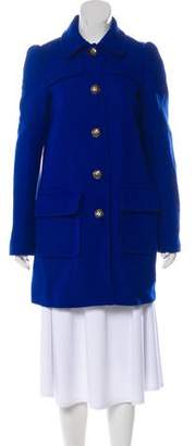 Rebecca Taylor Button-Up Short Coat