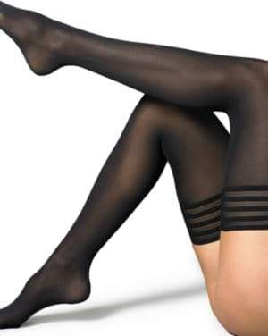 Wolford Velvet De Luxe Stay-Up Thigh Highs