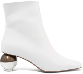 Neous - Encyclia Leather Ankle Boots - White