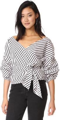 MLM LABEL Salo Wrap Shirt $180 thestylecure.com