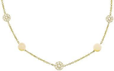Jennifer Meyer 16 Inch Yellow Gold Diamond Circle Necklace