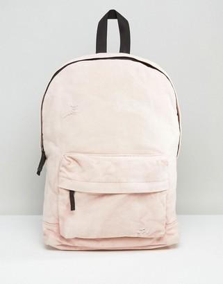 Asos Backpack In Acid Wash Pink