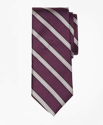 Brooks Brothers Twill Framed Stripe Tie