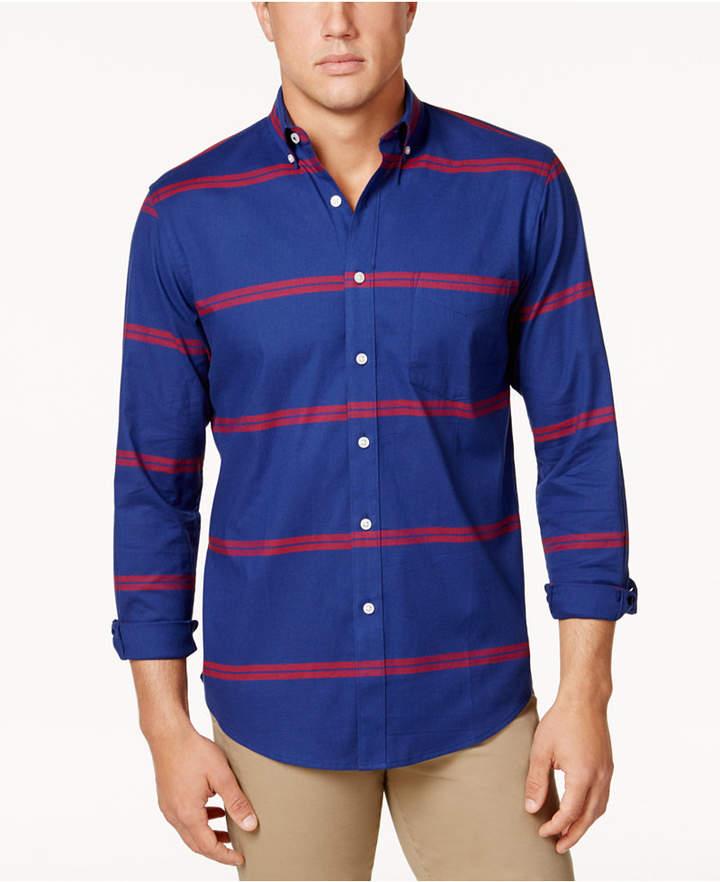 Club Room Men's Horizontal Stripe Stretch Shirt, Created for Macy's
