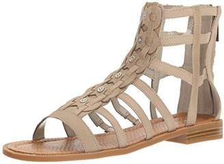 aa68b066311 Nine West Women s Xeron Nubuck Gladiator Sandal Dark Taupe
