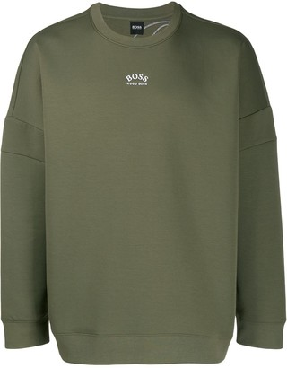 HUGO BOSS relaxed-fit embroidered logo sweatshirt