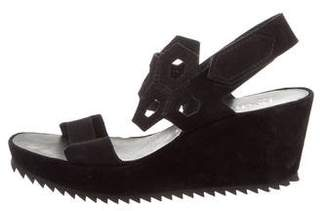 Pedro Garcia Laser-Cut Wedge Sandals