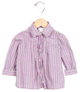 Ralph Lauren Girls' Striped Button-Up Top