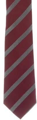 Isaia Striped Silk Jacquard Tie