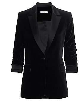 Alice + Olivia Women's Macey Ruched-Sleeve Blazer