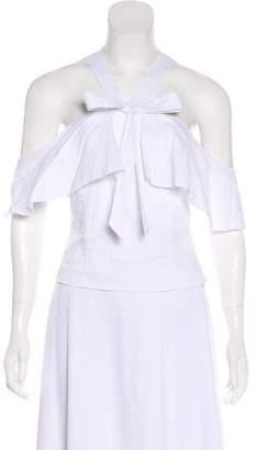 Intermix Cold-Shoulder Sleeveless Top