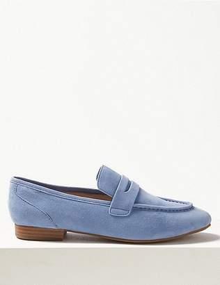 3067e78a9b6 Womens Light Blue Suede Loafers - ShopStyle